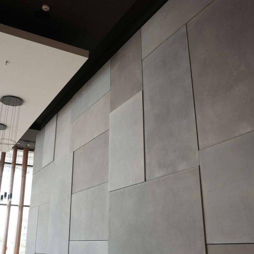 חיפוי קירות לובי במגוון צורות